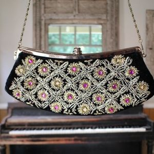 Vintage Gypsy Steve Nicks Style Embroidered Clutch